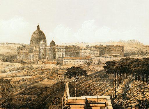 Christian Rome. National Comprehensive Family Bible, John Eadie (c 1866).