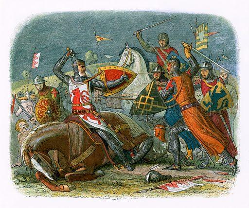 picture, James Doyle, painter, artist, illustrator, De Montfort, Battle of Evesham