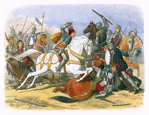 King Richard III at Bosworth Field. James E Doyle, A Chronicle of England BC 55 to AD 1485 (London, 1864).