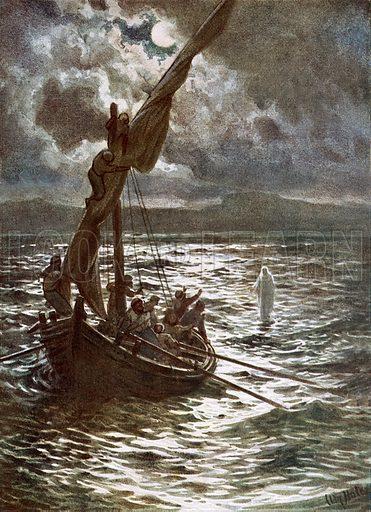 Jesus walking upon the sea