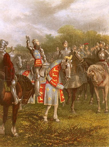 King Henry V at Agincourt.  The Nobility of Life edited by L Valentine (Frederick Warne, c 1870).