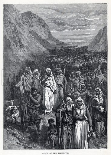 March of the Israelites. Illustrations from Cassell's Illustrated Universal History by Edward Ollier (1896).