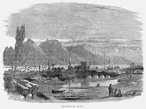 Antioch in Syria. Illustration from Cassell's Illustrated Universal History by Edward Ollier (1890).