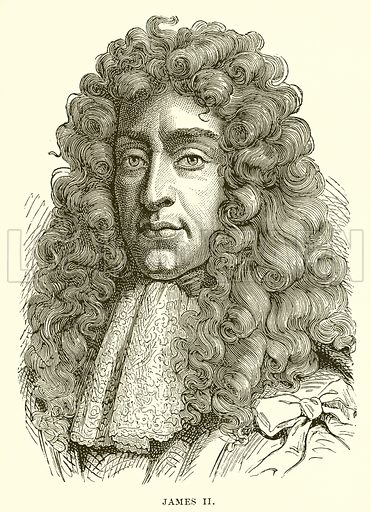James II. Illustration from Cassell's Illustrated Universal History by Edward Ollier (1890).