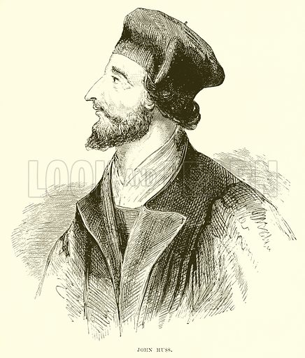 John Huss. Illustration from Cassell's Illustrated Universal History by Edward Ollier (1890).