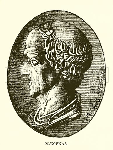 Maecenas. Illustration from Cassell's Illustrated Universal History by Edward Ollier (1890).