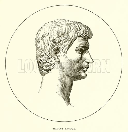 Marcus Brutus. Illustration from Cassell's Illustrated Universal History by Edward Ollier (1890).