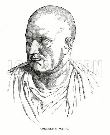 Cornelius Scipio. Illustration from Cassell's Illustrated Universal History by Edward Ollier (1890).