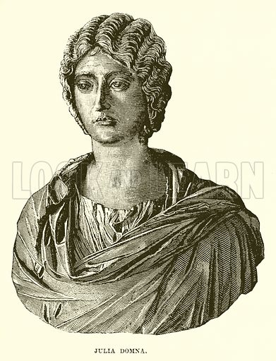 Julia Domna. Illustration from Cassell's Illustrated Universal History by Edward Ollier (1890).