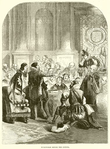 Buckingham before the Council. Illustration from John Cassell