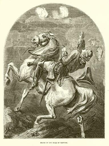 Death of the Duke of Berwick. Illustration from John Cassell