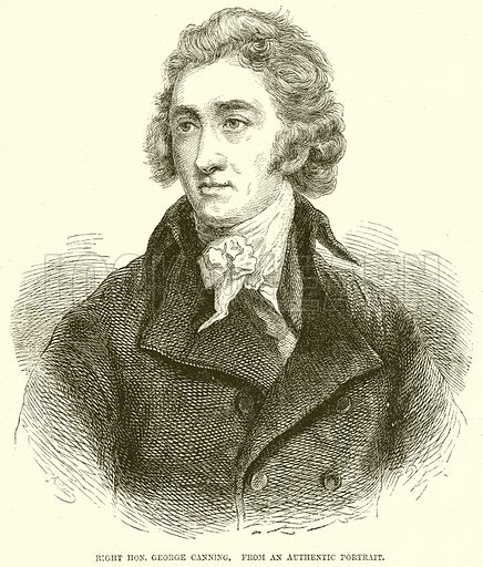Right Hon. George Canning. Illustration from John Cassell's Illustrated History of England (W Kent, 1857/1858).