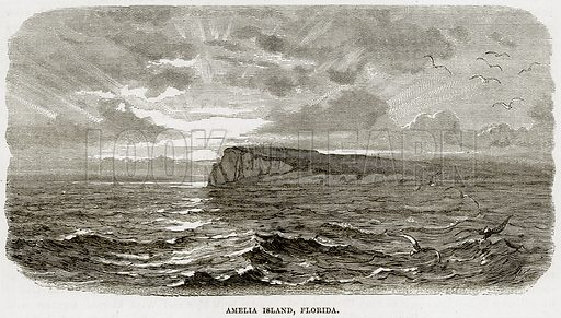 Amelia Island, Florida. Illustration from Cassell