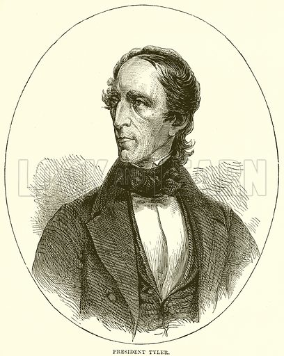 President Tyler. Illustration from Cassell's History of the United States by Edward Ollier (c 1900).