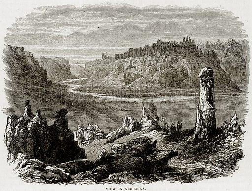 View in Nebraska. Illustration from Cassell