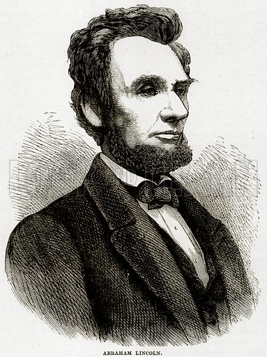 Abraham Lincoln. Illustration from Cassell's History of the United States by Edward Ollier (c 1900).