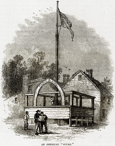 """An American """"Stump."""" Illustration from Cassell"""