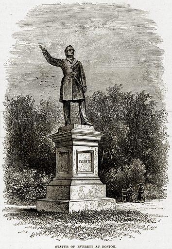 Statue of Everett at Boston. Illustration from Cassell