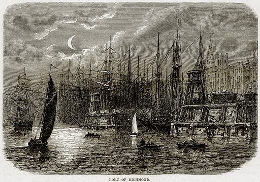 Port of Richmond. Illustration from Cassell