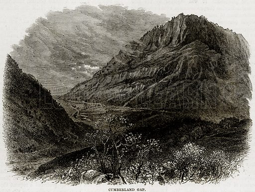 Cumberland gap. Illustration from Cassell