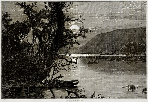 On the Shenandoah. Illustration from Cassell