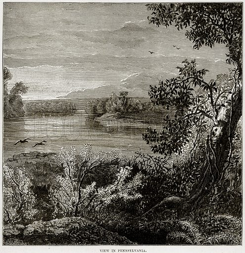 View in Pennsylvania. Illustration from Cassell