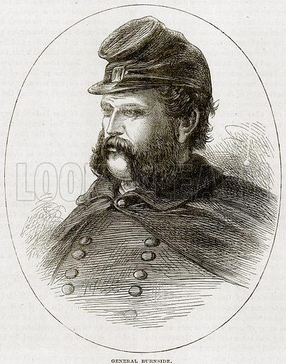General Burnside. Illustration from Cassell