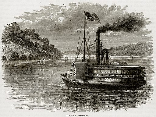 On the Potomac. Illustration from Cassell