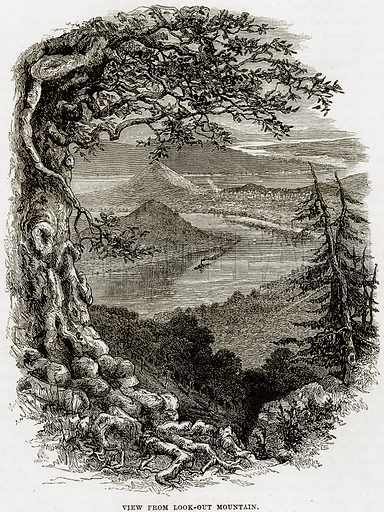 View from look-out Mountain. Illustration from Cassell