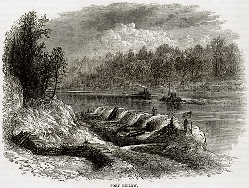 Fort Pillow. Illustration from Cassell