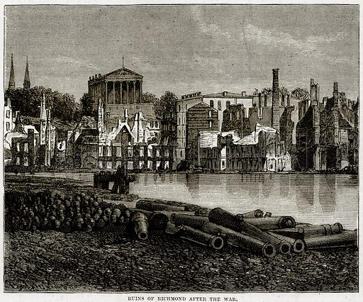 Ruins of Richmond after the war. Illustration from Cassell