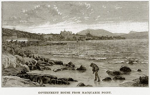 Government House from Macquarie Point. Illustration from Cassell