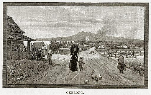 Geelong. Illustration from Cassell's Picturesque Australasia by EE Morris (c 1889).