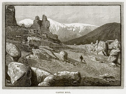 Castle Hill. Illustration from Cassell's Picturesque Australasia by EE Morris (c 1889).