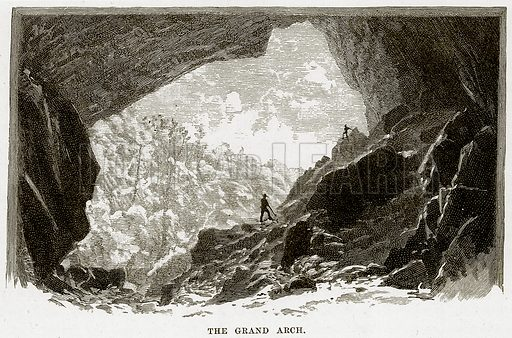 The Grand Arch. Illustration from Cassell's Picturesque Australasia by EE Morris (c 1889).