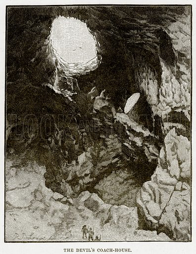 The Devil's Coach-House. Illustration from Cassell's Picturesque Australasia by EE Morris (c 1889).