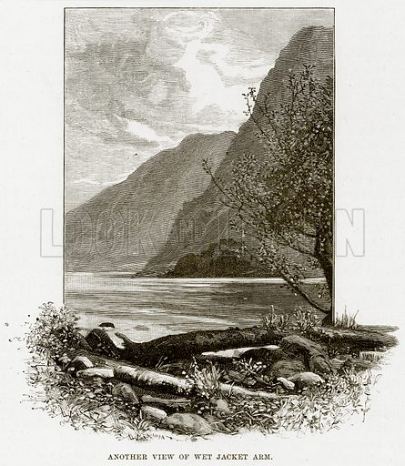 Another view of Wet Jacket Arm. Illustration from Cassell's Picturesque Australasia by EE Morris (c 1889).