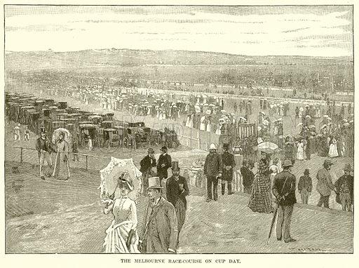 Melbourne cup, picture, image, illustration