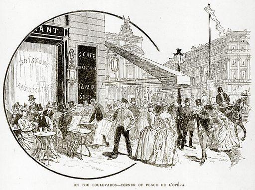 On the Boulevards--Corner of Place de L