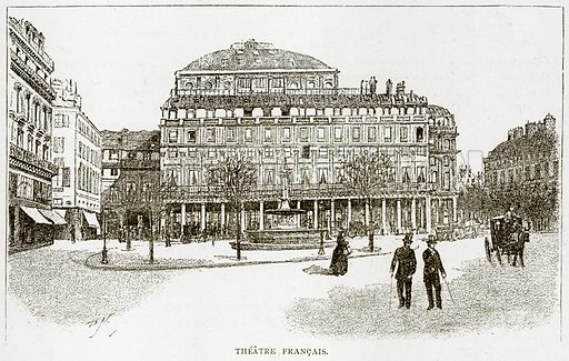 Theatre Francais. Illustration from Old and New Paris by H Sutherland Edwards (Cassell, 1893).