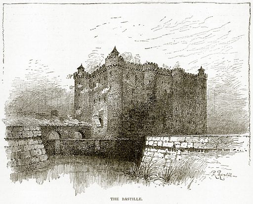 The Bastille. Illustration from Old and New Paris by H Sutherland Edwards (Cassell, 1893).