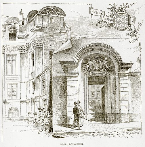 Hotel Lamoignon. Illustration from Old and New Paris by H Sutherland Edwards (Cassell, 1893).