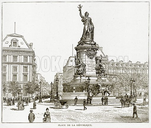 Place de la Republique. Illustration from Old and New Paris by H Sutherland Edwards (Cassell, 1893).