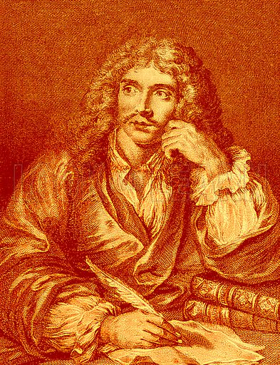 Moliere. Illustration from Old and New Paris by H Sutherland Edwards (Cassell, 1893).