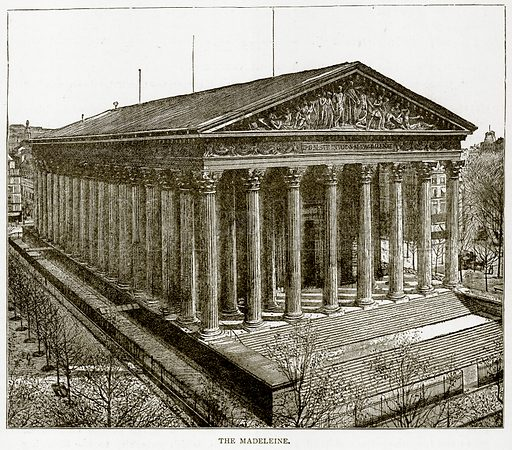 The Madeleine. Illustration from Old and New Paris by H Sutherland Edwards (Cassell, 1893).
