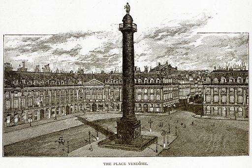 The Place Vendome. Illustration from Old and New Paris by H Sutherland Edwards (Cassell, 1893).