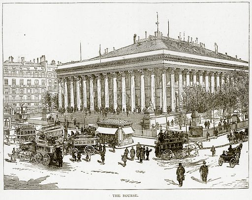 The Bourse. Illustration from Old and New Paris by H Sutherland Edwards (Cassell, 1893).
