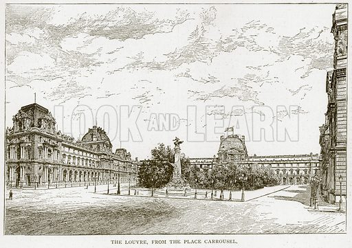 The Louvre, from the Place Carrousel. Illustration from Old and New Paris by H Sutherland Edwards (Cassell, 1893).