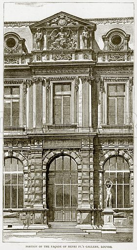 Portion of the Facade of Henri IV.