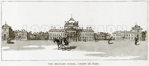 The Military School, Champ de Mars. Illustration from Old and New Paris by H Sutherland Edwards (Cassell, 1893).